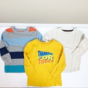 Lot of boys long sleeved tees (2 waffle thermals)